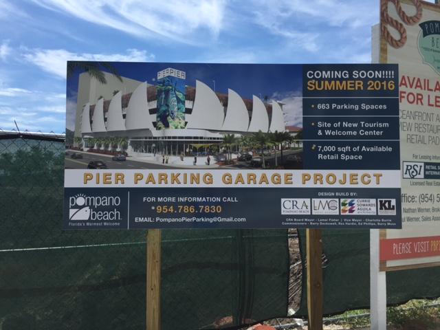 Pompano Beach Fishing Village- Pier parking garage