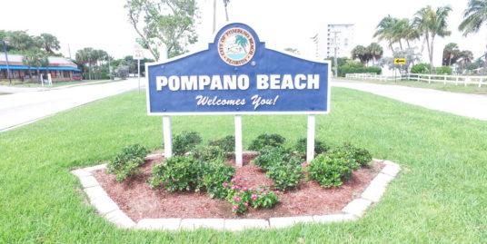 Pompano Beach Sign by Social Media Titans