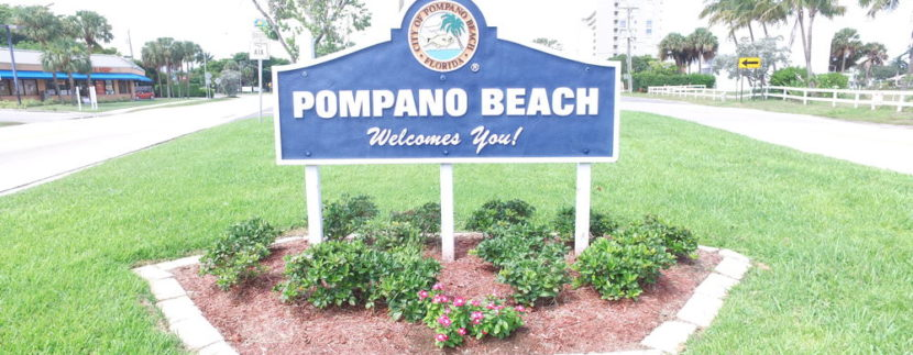 Pompano Beach Sign by Social Media Titans