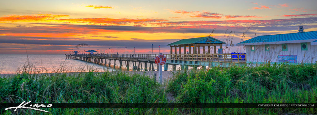 Lauderdale by the Sea Florida Fishing Pier at Beach