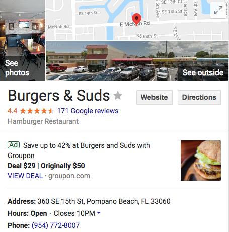 burger & suds restaurant pompano beach