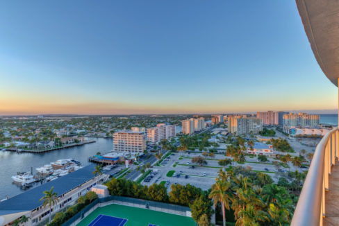 2 BR Condo Balcony Sunset 2 HDR