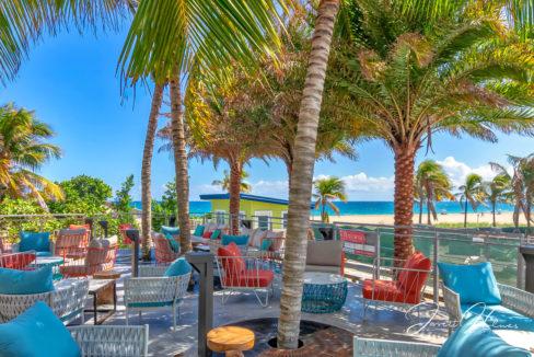 Pompano Beach Oceanic Deck HDR